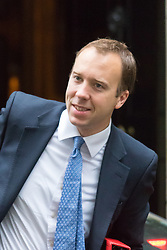 Downing Street, London June 2nd 2015. Matthew Hancock, Minister for the Cabinet Office arrives at 10 Downing Street to attend the weekly Cabinet Meeting.