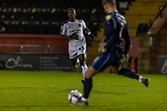 Shrewsbury Town Forward Daniel Udoh chases down a ball during the EFL Sky Bet League 1 match between Lincoln City and Shrewsbury Town at Sincil Bank, Lincoln, United Kingdom on 15 December 2020.