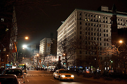 Broadway and 79th Street in New York City at night