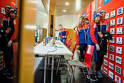 February 22, 2019 - Seefeld In Tirol, AUSTRIA - 190222 Ingvild Flugstad ¯stberg and Astrid Uhrenholdt Jacobsen of Norway at a press event during the FIS Nordic World Ski Championships on February 22, 2019 in Seefeld in Tirol..Photo: Vegard Wivestad GrÂ¿tt / BILDBYRN / kod VG / 170287 (Credit Image: © Vegard Wivestad Gr¯Tt/Bildbyran via ZUMA Press)