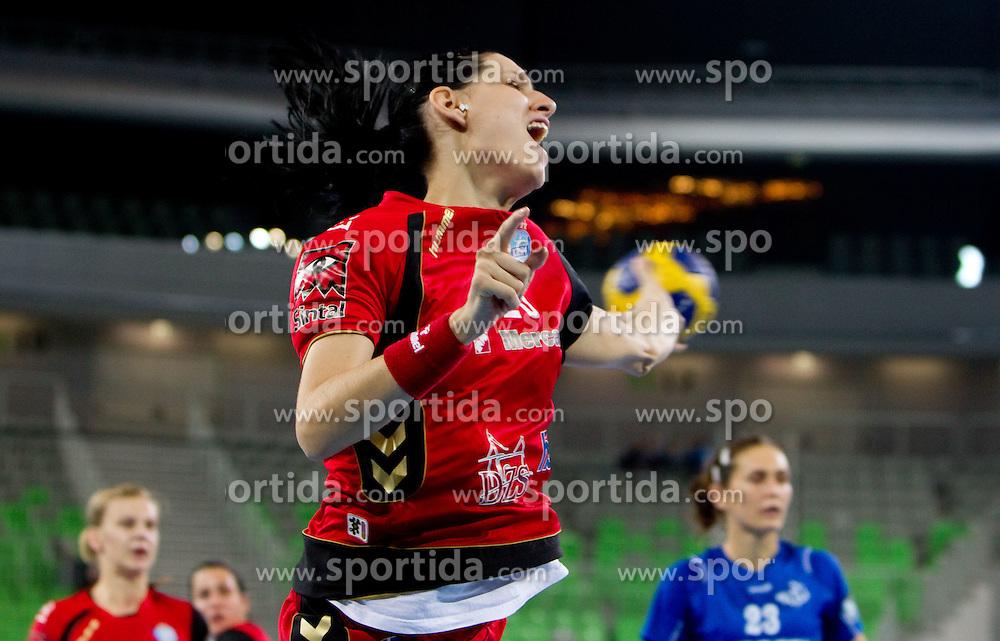 Anja Koren of Krim  during handball match between RK Krim Mercator (SLO) and RK Podravka Vegeta (CRO) in Women's EHF Champions League, on November 13, 2010 in Arena Stozice, Ljubljana, Slovenia. (Photo By Vid Ponikvar / Sportida.com)