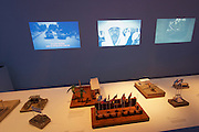 """Venice, Italy - 15th Architecture Biennale 2016, """"Reporting from the Front"""".<br /> Giardini.<br /> Netherlands Pavilion.<br /> BLUE: Architecture of U.N. Peacekeeping Missions."""
