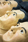 George Osborne masks. Enough Food IF campaigners gather in Westminster to call on Osborne to keep promises to the world's poorest.