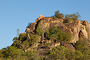 The landscape in Matobo National Park, part of the Motopos Hiils area in Zimbabwe. The park is an U.N. UNESCO World Hertiage Site. © Michael Durham / www.DurmPhoto.com