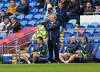 Middlesbrough manager Neil Warnock looks on during the game<br /> <br /> Photographer Ian Cook/CameraSport<br /> <br /> The EFL Sky Bet Championship - Cardiff City v Middlesbrough - Saturday 23rd October 2021 - Cardiff City Stadium - Cardiff<br /> <br /> World Copyright © 2020 CameraSport. All rights reserved. 43 Linden Ave. Countesthorpe. Leicester. England. LE8 5PG - Tel: +44 (0) 116 277 4147 - admin@camerasport.com - www.camerasport.com