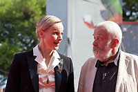 Maxine Peake and Director Mike Leigh<br /> at the premiere gala screening of the film Peterloo at the 75th Venice Film Festival, Sala Grande on Saturday 1st September 2018, Venice Lido, Italy.