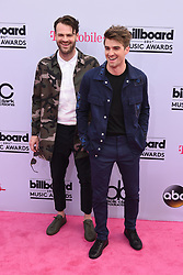 DJs Alex Pall (L) and Andrew Taggart of The Chainsmokers at 2017 Billboard Music Awards held at T-Mobile Arena on May 21, 2017 in Las Vegas, NV, USA (Photo by Jason Ogulnik) *** Please Use Credit from Credit Field ***