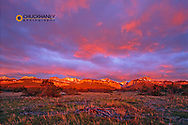 Spectacular sunrise light greets the Rocky Mountain Front at Blackleaf Canyon in Montana