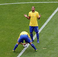 Photo: Chris Ratcliffe.<br /> Brazil v Ghana. Round 2, FIFA World Cup 2006. 27/06/2006.<br /> Adriano of Brazil.