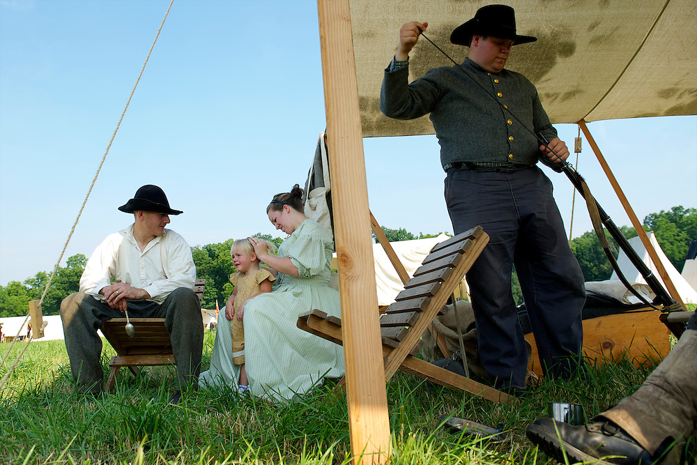 on the second day of the 149th Gettysburg Reenactment in Gettysburg, Pennsylvania on July 7, 2012.