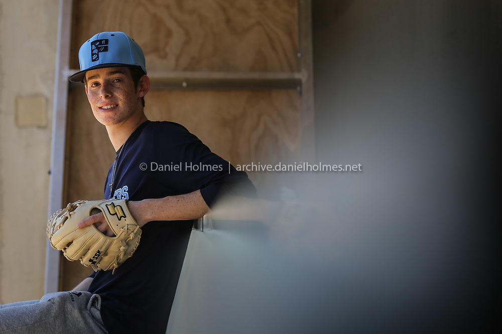 Franklin High School's Brennan Rivera poses for a photo at Franklin High School, on Jun. 17, 2020. [Daily News and Wicked Local Photo/Dan Holmes]