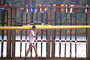 Atlanta, USA. General Views of the boat and oar/blade storage areas, Athletes carrying Oar/Blades and Boats.1996 Olympic Rowing Regatta Lake Lanier, Georgia [Mandatory Credit Peter Spurrier/ Intersport Images]