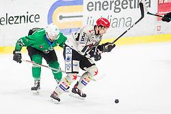 MihaBrus of HDD Jesenice during Ice Hockey match between HK SZ Olimpija Ljubljana and HDD Jesenice in Round #24 of Alps Hockey League, on December 22, 2018 in Hala Tivoli, Ljubljana, Slovenia. Photo by Ziga Zupan / Sportida