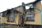 The burnt out shell of one of Ireland's most famous pubs, Creedon's 'Top of the Coom' on the Kerry-Cork border which claims to be the highest pub in Ireland and was extensively damaged by fire..Picture by Don MacMonagle