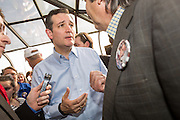 U.S. Senator Ted Cruz and GOP presidential candidate greets supporters following a town hall meeting at the famous Beacon Drive-in restaurant before April 3, 2015 in Spartanburg, South Carolina.