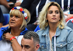 Antoine Griezmann's wife Erika Choperena and Isabelle Griezmann mother of antoine Griezmann during the FIFA World Cup 2018 Round of 8 match at the Nizhny Novgorod Stadium Russia, on July 6, 2018. . Photo by Christian Liewig/ABACAPRESS.COM