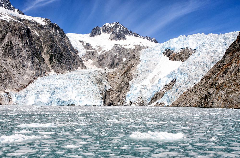 North America; United States; Alaska; Kenai Fjords National Park; Northwestern Glacier; Summer.