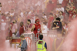 September 27, 2017 - Harrison, New Jersey, United States - Harrison, NJ USA - September 27, 2017: Red Bulls fans celebrate 2nd goal by Tyler Adams (not pictured) during regular MLS game against DC United at Red Bull Arena Game ended in draw 3 - 3  (Credit Image: © Lev Radin/Pacific Press via ZUMA Wire)