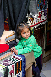 Young Girl At Pisco Market