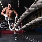 Photoshoot with Raul Salomon at Grampa's Boxing Gym in Westminster, California on December 16th, 2017.  ©Michael Der Photography/ALL RIGHTS RESERVED.<br /> <br /> All Images are available for a Rights Managed License and available through this site.  For any licensing questions, please contact Michael Der directly.