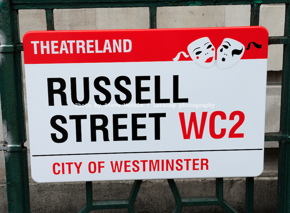 Russell Street, Sign, London, England, Britain - July 09