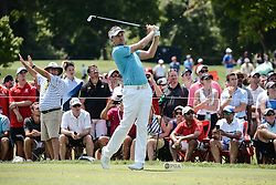 August 10, 2018 - Town And Country, Missouri, U.S - IAN POULTER from England tees off on hole number three during round two of the 100th PGA Championship on Friday, August 10, 2018, held at Bellerive Country Club in Town and Country, MO (Photo credit Richard Ulreich / ZUMA Press) (Credit Image: © Richard Ulreich via ZUMA Wire)