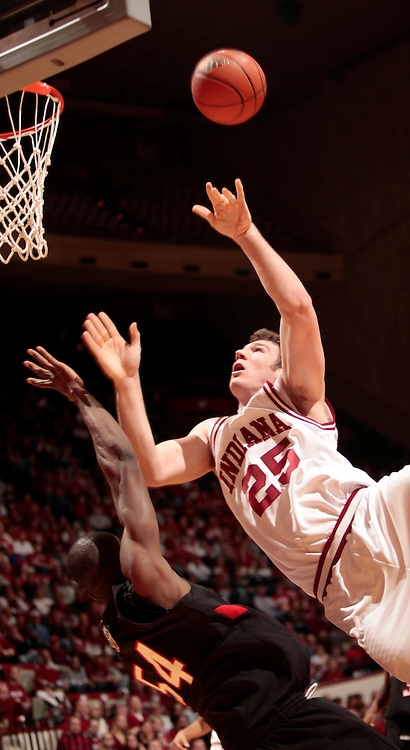 22 December 2008: Indiana forward Tom Pritchard (25) as the Indiana Hoosiers played the Northeastern Huskies in a college basketball game in Bloomington, Ind.