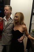 Bob Geldof, Jeanne Marine . First night party for High Society. Shanghai Blues. High Holborn.  October 10 2005. ONE TIME USE ONLY - DO NOT ARCHIVE © Copyright Photograph by Dafydd Jones 66 Stockwell Park Rd. London SW9 0DA Tel 020 7733 0108 www.dafjones.com