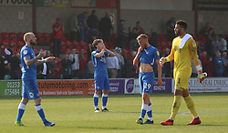 Alex Woodyard of Peterborough United cuts a dejected figure at full-time after conceding a late equalising goal - Mandatory by-line: Joe Dent/JMP - 19/04/2019 - FOOTBALL - Highbury Stadium - Fleetwood, England - Fleetwood Town v Peterborough United - Sky Bet League One