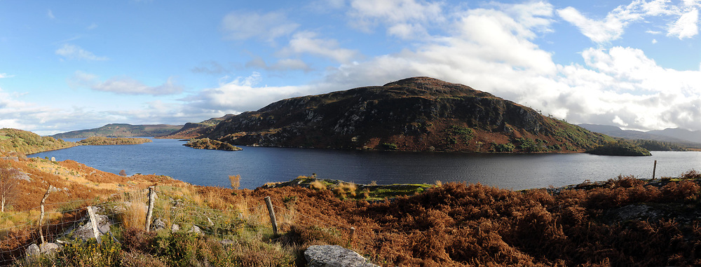 A panorama view over Caragh Lake, near Glencar in County Kerry.<br /> Picture by Don MacMonagle<br /> e: info@macmonagle.com