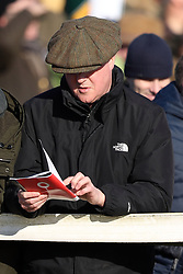 Former Prime Minister David Cameron attends the Cocklebarrow races near Chippenham in Wiltshire.