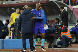 (l-r) coach Dick Advocaat of Holland, Ryan Babel of Holland during the friendly match between Romania and The Netherlands on November 14, 2017 at Arena National in Bucharest, Romania
