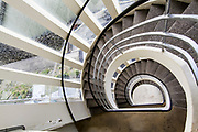 Diminishing point, infinite spiral staircase