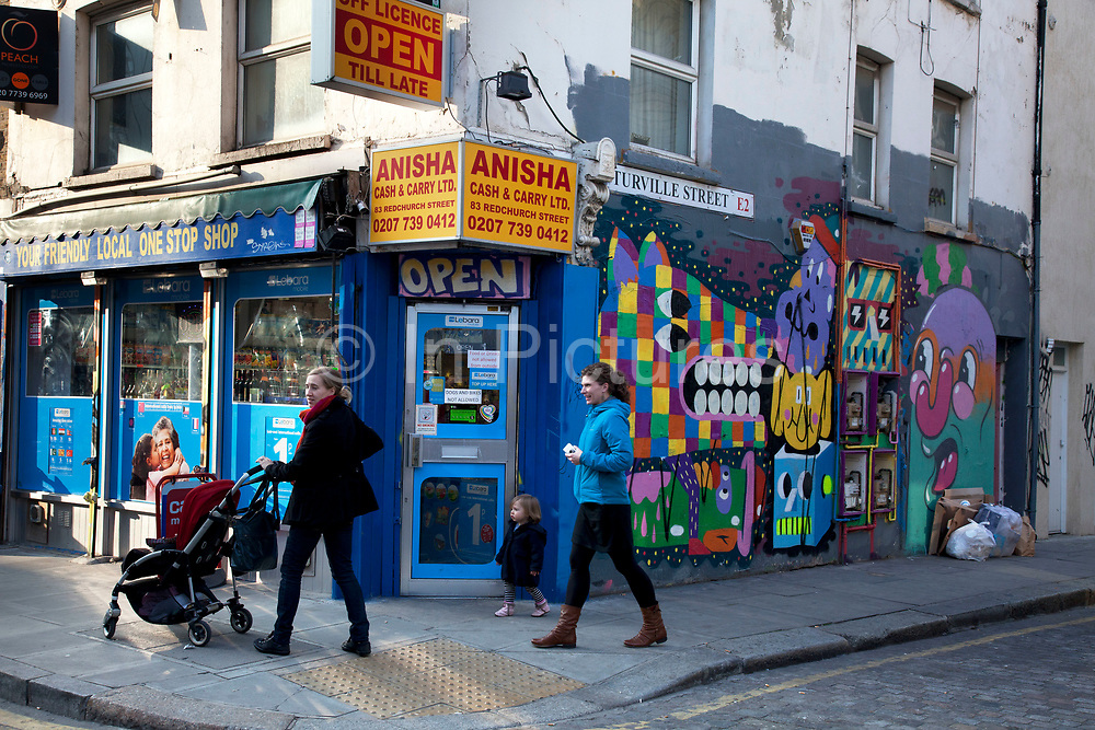 Street art by artists Malarkey and Mr Penfold in the East End of London is an ever changing visual enigma, as the artworks constantly change, as councils clean some walls or new works go up in place of others. While some consider this vandalism or graffiti, these artworks are very popular among local people and visitors alike, as a sense of poignancy remains in the work, many of which have subtle messages.