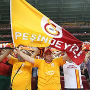 Galatasaray's supporter during their Turkish Super League soccer match Galatasaray between Bursaspor at the TT Arena at Seyrantepe in Istanbul Turkey on Sunday 02 September 2012. Photo by TURKPIX