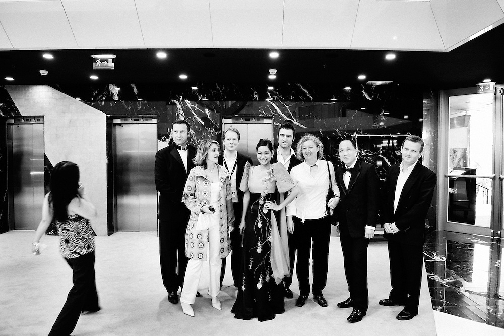 Palais Stephanie: Kinatay's crew (dir. Brillante Mendoza) is preparing to go to their Official screening at the 62th Cannes Film Festival. France. 17 May 2009. Photo: Antoine Doyen