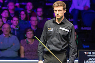 Jack Lisowski holding his own at the World Snooker 19.com Scottish Open Final Mark Selby vs Jack Lisowski at the Emirates Arena, Glasgow, Scotland on 15 December 2019.