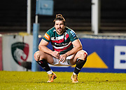 Leicester Tigers wing Kobus Van Wyk during a Gallagher Premiership Round 7 Rugby Union match, Friday, Jan. 29, 2021, in Leicester, United Kingdom. (Steve Flynn/Image of Sport)