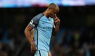 Vincent Kompany of Manchester City after the English Premier League match at The Etihad Stadium, Manchester. Picture date: April 27th, 2016. Photo credit should read: Lynne Cameron/Sportimage