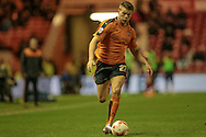 Björn Sigurðarson (Wolverhampton Wanderers) runs with the ball during the Sky Bet Championship match between Middlesbrough and Wolverhampton Wanderers at the Riverside Stadium, Middlesbrough, England on 4 March 2016. Photo by Mark P Doherty.