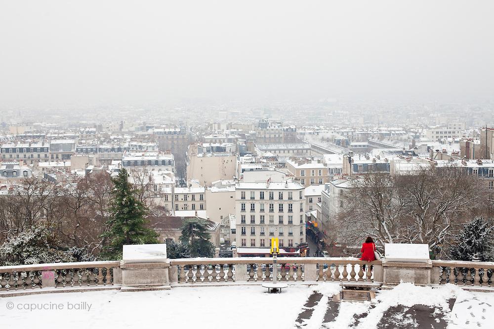 Paris, France. December 17th 2009..Place du Palais du Sacré Coeur (18th Arrondissement)