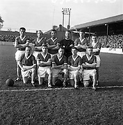 29/10/1961<br /> 10/29/1961<br /> 29 October 1961<br /> Soccer; Drumcondra v Cork Hibernians in the final round of the Shield Competition at Tolka Park, Dublin. The Cork Hibs team.