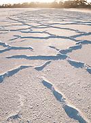 Lake Sturt dried up to become a salt flat in the Gawler Ranges, South Australia, Australia