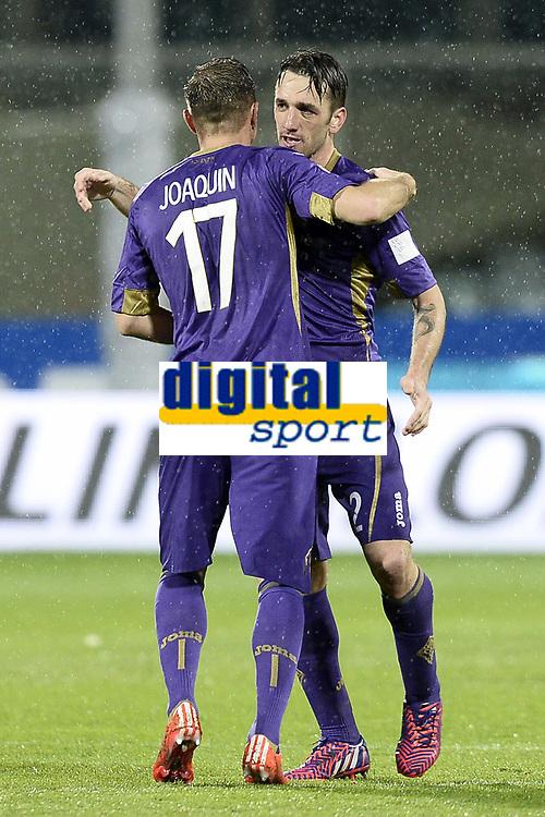 Esultanza  goal Gonzalo Rodriguez-Joaquin<br /> Firenze 16/03/2015 , Football Calcio 2014/2015 Serie A, Fiorentina-Milan, foto Daniele Buffa/Image Sport/Insidefoto