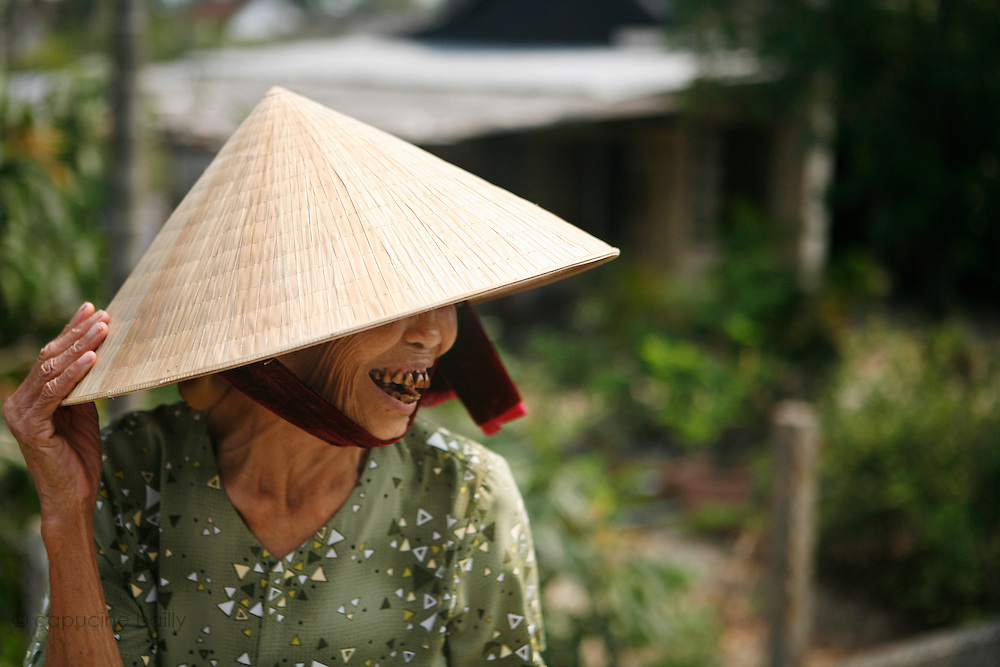 Hoi An, Vietnam. March 14th 2007..An old woman in the village of Thuan Tinh.