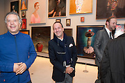 PETER FLEISSIG; SIMON LEE, George Condo: Mental States. Hayward Gallery. Southbank Rd. London. 17 October 2011. <br /> <br />  , -DO NOT ARCHIVE-© Copyright Photograph by Dafydd Jones. 248 Clapham Rd. London SW9 0PZ. Tel 0207 820 0771. www.dafjones.com.