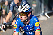 Mark Cavendish of Deceuninck - Quick Step at the finish of the AJ Bell Tour of Britain 2021, stage 7 between Hawick and Edinburgh, Scotland on 11 September 2021.