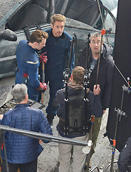 EXCLUSIVE: The Avengers filmed today in Atlanta with actors Robert Downey Jr., Chris Evans and Paul Rudd. 11 Jan 2018 Pictured: Chris Evans and Robert Downey Jr. Photo credit: MEGA TheMegaAgency.com +1 888 505 6342