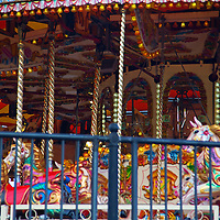 Europe, United Kingdom, Wales, Cardiff. The only Welsh theme Carousel in the world.