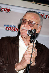 Stan Lee, founder of Marvel Comics, receives the first New York Comic Legend Award from ComicConNY at Virgin Megastore Times Square in New York City, NY, USA on April 17, 2008. Photo by Irving Forbush/ABACAPRESS.COM